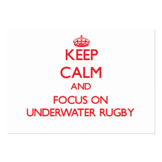 Keep calm and focus on Underwater Rugby Business Card