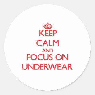 Keep Calm and focus on Underwear Sticker