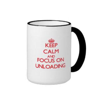 Keep Calm and focus on Unloading Ringer Coffee Mug