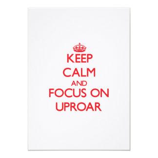 Keep Calm and focus on Uproar Custom Announcement