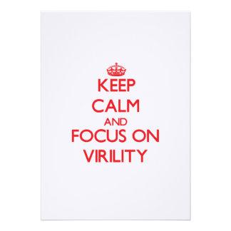 Keep Calm and focus on Virility Invitation
