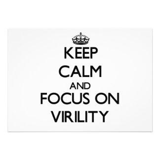 Keep Calm and focus on Virility Card