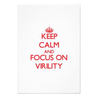 Keep Calm and focus on Virility Custom Announcement