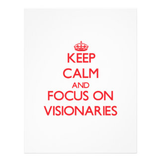 Keep Calm and focus on Visionaries Personalized Flyer