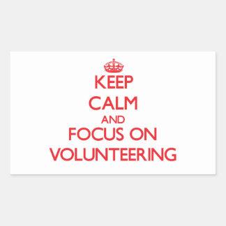 Keep Calm and focus on Volunteering Sticker