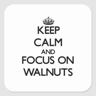 Keep Calm and focus on Walnuts Square Sticker