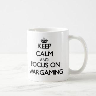 Keep calm and focus on Wargaming Coffee Mug