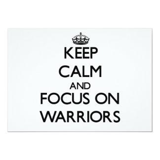 Keep Calm and focus on Warriors Custom Announcements