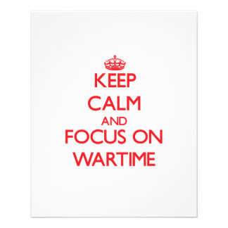 Keep Calm and focus on Wartime Flyer Design