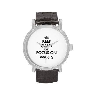 Keep Calm and focus on Warts Wrist Watch