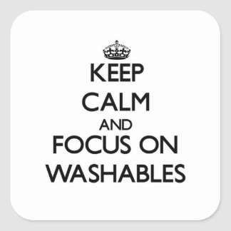 Keep Calm and focus on Washables Square Sticker