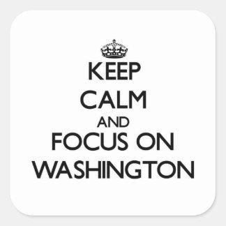 Keep Calm and focus on Washington Sticker