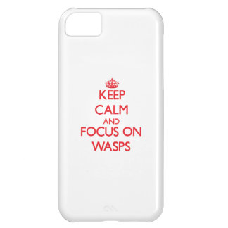 Keep calm and focus on Wasps iPhone 5C Cases