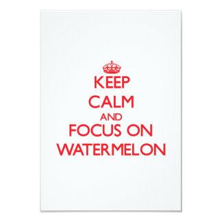 Keep Calm and focus on Watermelon Card