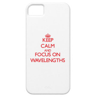 Keep Calm and focus on Wavelengths iPhone 5/5S Cases