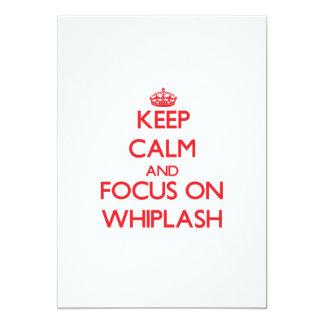 Keep Calm and focus on Whiplash 13 Cm X 18 Cm Invitation Card