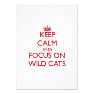 Keep calm and focus on Wild Cats Custom Invite