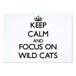 Keep calm and focus on Wild Cats Personalized Invites