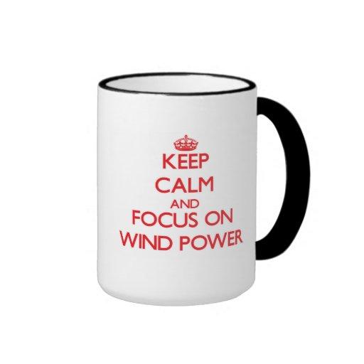 Keep Calm and focus on Wind Power Mugs