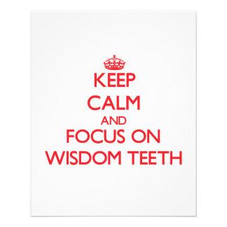 Keep Calm and focus on Wisdom Teeth Flyer Design