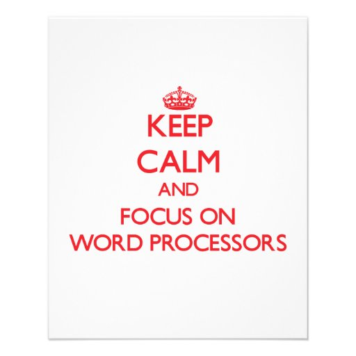 Keep Calm and focus on Word Processors Flyer Design