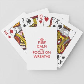 Keep Calm and focus on Wreaths Poker Cards