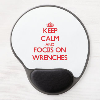 Keep Calm and focus on Wrenches Gel Mouse Mats