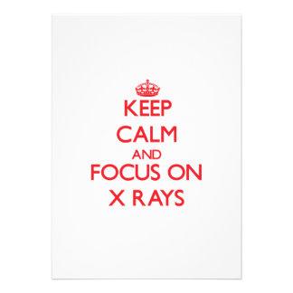 Keep Calm and focus on X-Rays Card