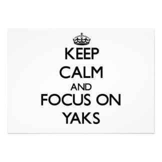 Keep Calm and focus on Yaks Custom Announcements