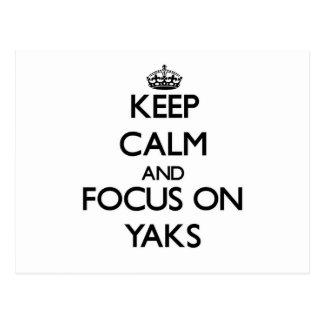 Keep Calm and focus on Yaks Postcards