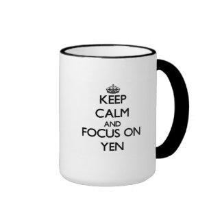 Keep Calm and focus on Yen Coffee Mug