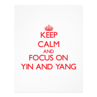 Keep Calm and focus on Yin and Yang Flyers