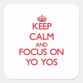 Keep Calm and focus on Yo-Yos Stickers