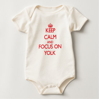 Keep Calm and focus on Yolk Baby Bodysuit