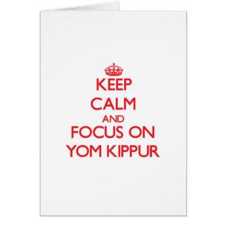 Keep Calm and focus on Yom Kippur Greeting Card