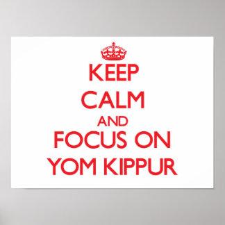 Keep Calm and focus on Yom Kippur Posters