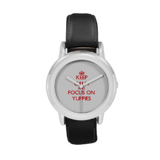 Keep Calm and focus on Yuppies Wrist Watches
