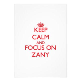 Keep Calm and focus on Zany Custom Invites