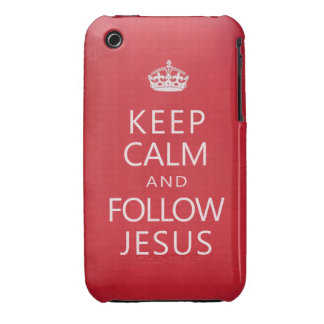 Keep Calm and Follow Jesus iPhone 3 Cover