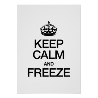 KEEP CALM AND FREEZE POSTER