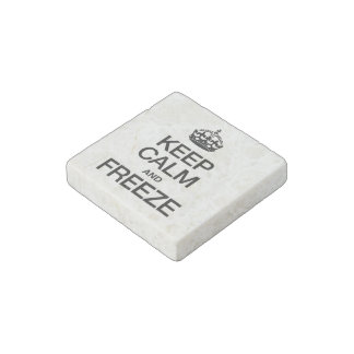 KEEP CALM AND FREEZE STONE MAGNET