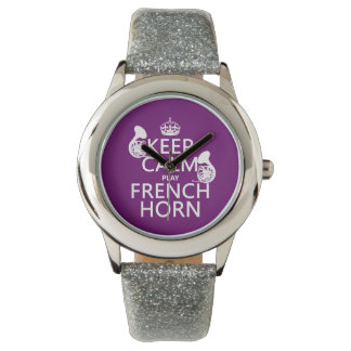 Keep Calm and French Horn (any background color) Watch