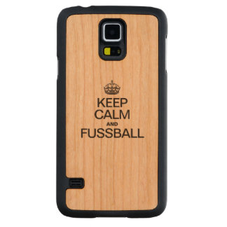 KEEP CALM AND FUSSBALL CARVED® CHERRY GALAXY S5 SLIM CASE