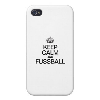 KEEP CALM AND FUSSBALL COVER FOR iPhone 4