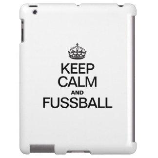 KEEP CALM AND FUSSBALL iPad CASE