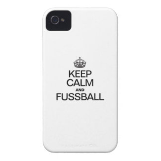 KEEP CALM AND FUSSBALL iPhone 4 CASE