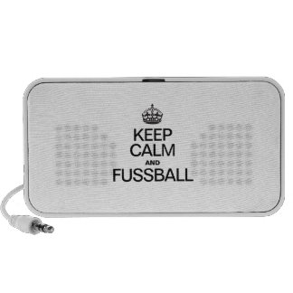 KEEP CALM AND FUSSBALL iPhone SPEAKERS