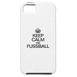 KEEP CALM AND FUSSBALL TOUGH iPhone 5 CASE