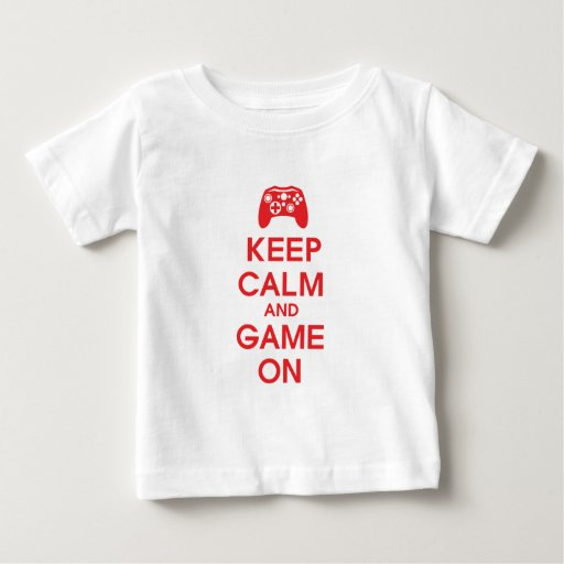 Keep Calm and Game On Baby T-Shirt