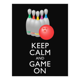KEEP CALM AND GAME ON - Bowling Flyer Design